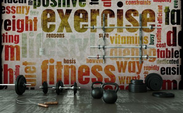 Fototapeta fitness z napisami