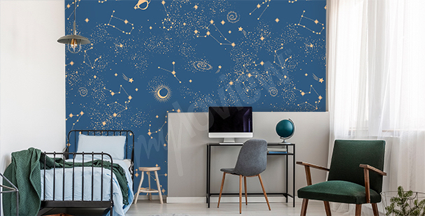 Fototapeta galaktyka do pokoju nastolatka