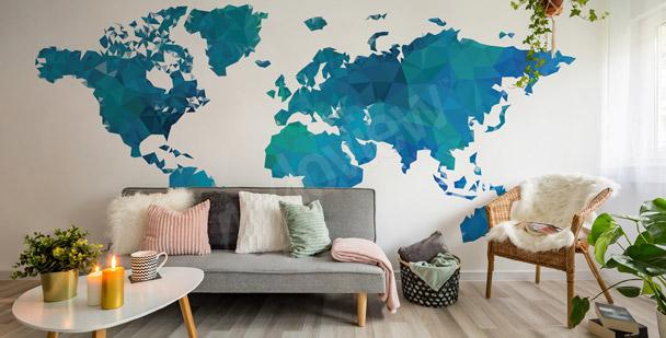 Fototapeta mapa świata do przedpokoju