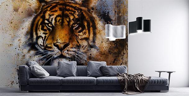 Fototapeta głowa tygrysa