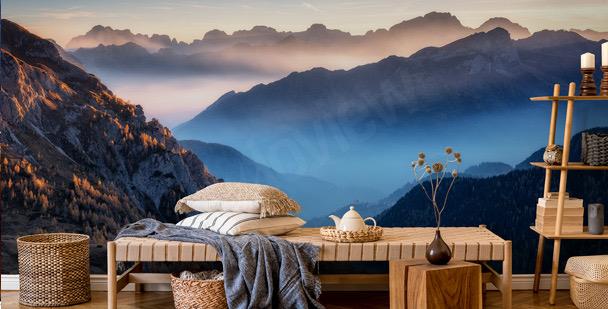Fototapeta góry o zmierzchu