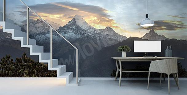 Fototapeta góry w Nepalu