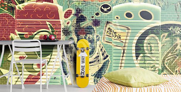 Fototapeta graffiti dla nastolatka
