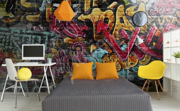Fototapeta graffiti do pokoju młodzieżowego