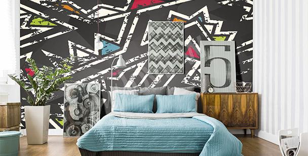 Fototapeta graffiti do sypialni