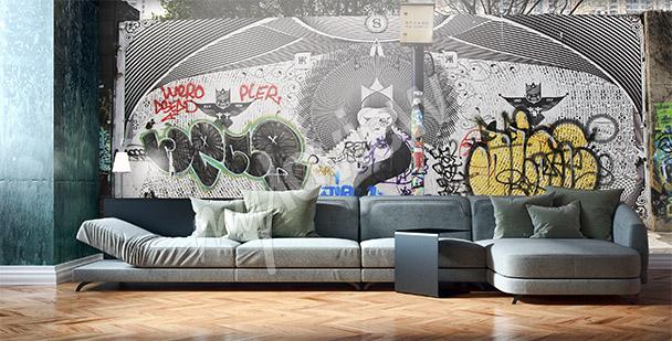 Fototapeta graffiti w Szanghaju