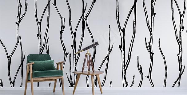 Fototapeta graficzne drzewa
