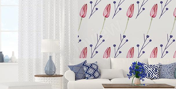 Fototapeta graficzne tulipany