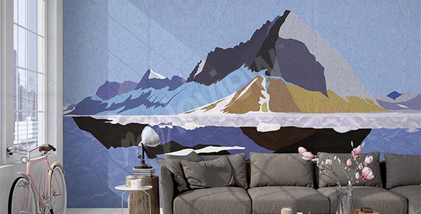 Fototapeta graficzny krajobraz górski