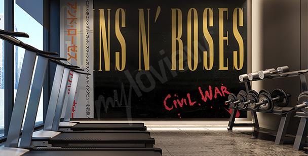 Fototapeta Guns N' Roses napisy