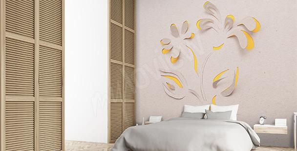Fototapeta hotelowa z kwiatem