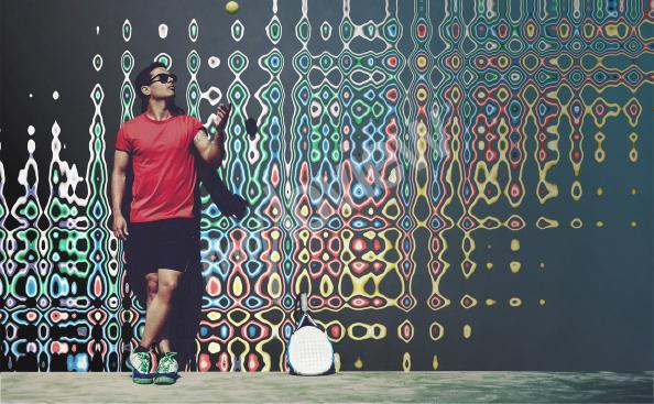 Fototapeta iluzja w kolorach