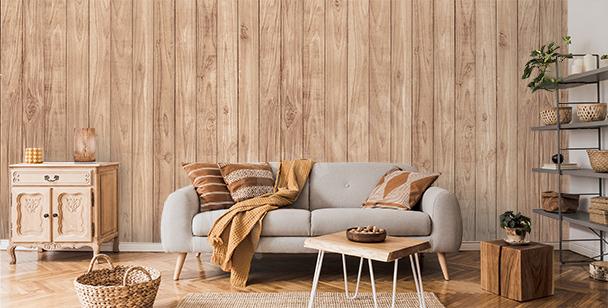 Fototapeta imitacja drewna do salonu