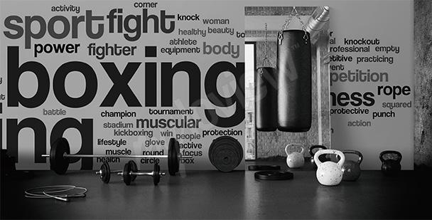 Fototapeta inspirowana boksem