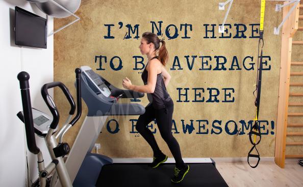 Fototapeta inspirujący cytat do fitness clubu