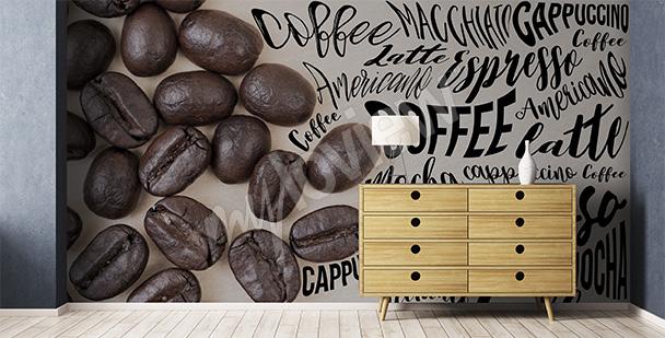 Fototapeta kawa i napisy
