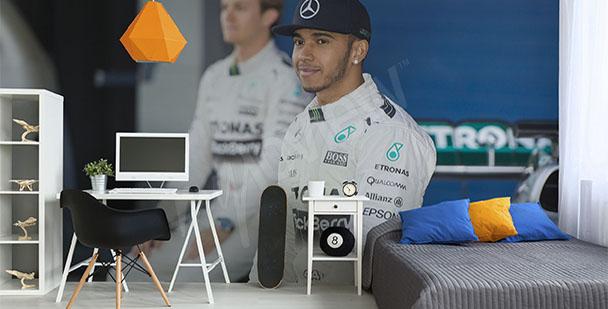 Fototapeta kierowca Formuły 1