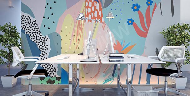 Fototapeta kolorowa abstrakcja do biura