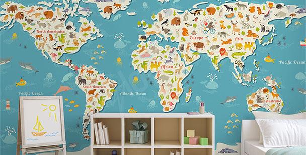 Fototapeta kolorowa mapa