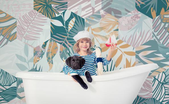 Fototapeta kolorowa mozaika liści