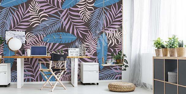 Fototapeta kolorowe liście palmy