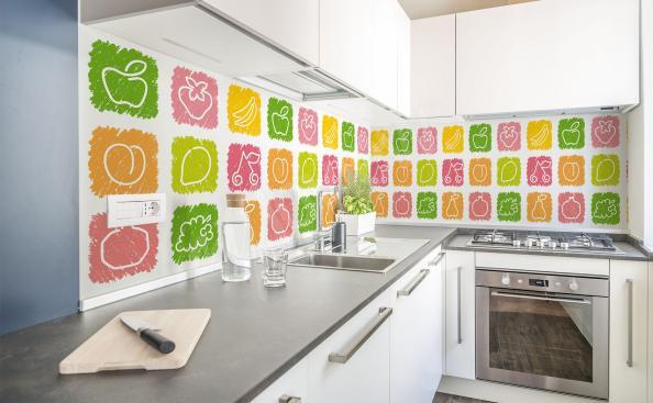 Fototapeta kolorowe owoce do kuchni