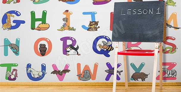 Fototapeta kolorowy alfabet