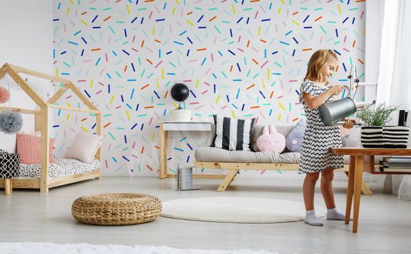 Fototapeta kolorowy deseń do pokoju dziecka