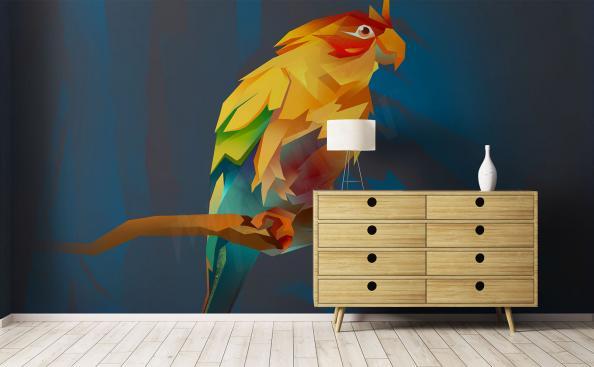 Fototapeta kolorowy ptak papuga