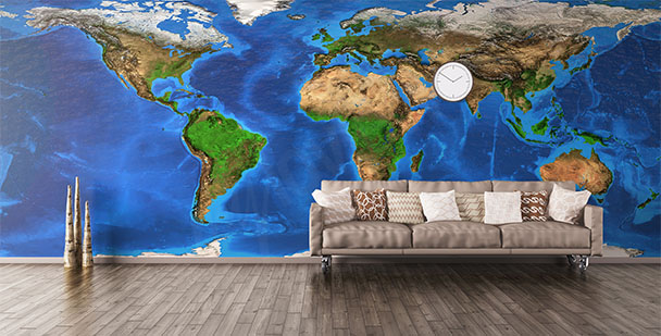 Fototapeta kontynenty świata