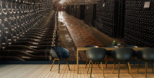 Fototapeta korytarz winiarni