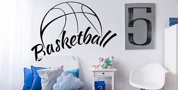 Fototapeta koszykówka - napis