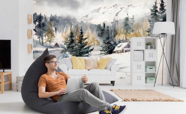 Fototapeta krajobraz górski zimą