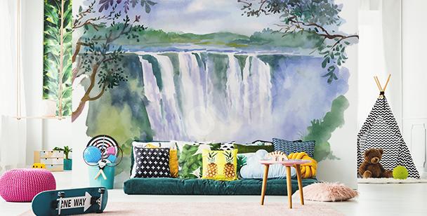 Fototapeta krajobraz w akwareli