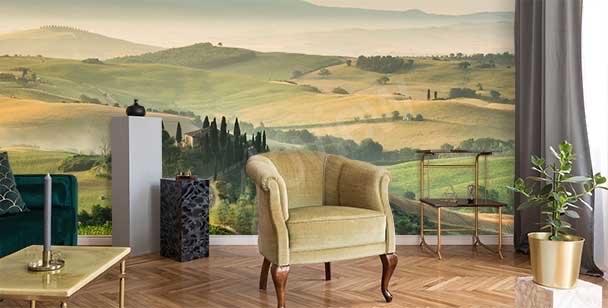 Fototapeta krajobraz w Toskanii