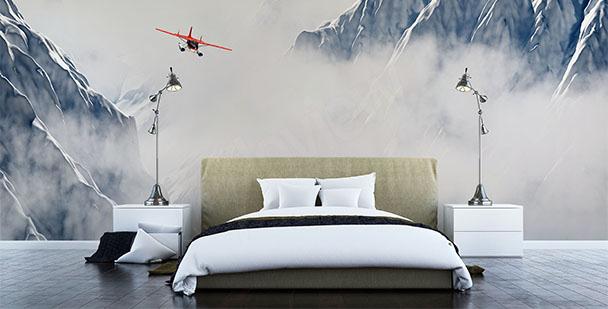 Fototapeta krajobraz z samolotem
