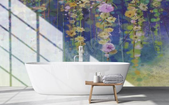 Fototapeta kwiaty do łazienki