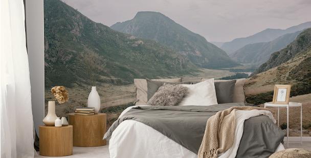 Fototapeta góry w sepii