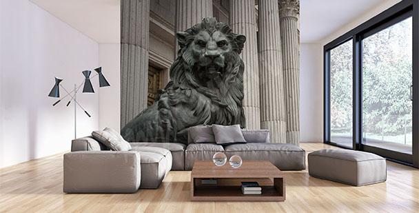 Fototapeta lew rzeźba