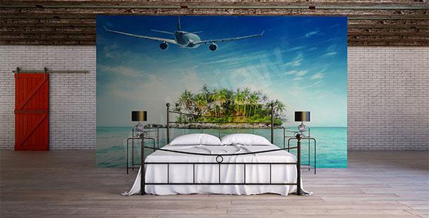 Fototapeta lot na tropikalną wyspę
