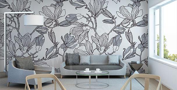 Fototapeta magnolia szkic