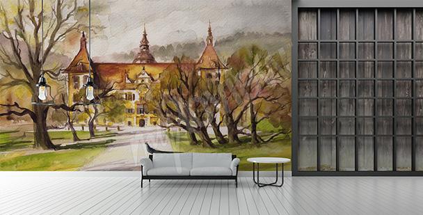 Fototapeta malowany pałac
