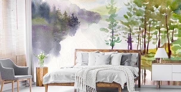 Fototapeta malowany widok