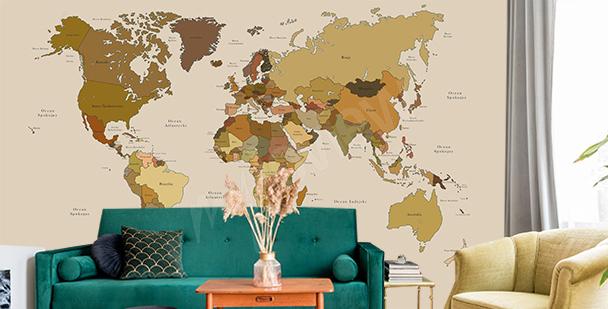 Fototapeta mapa vintage