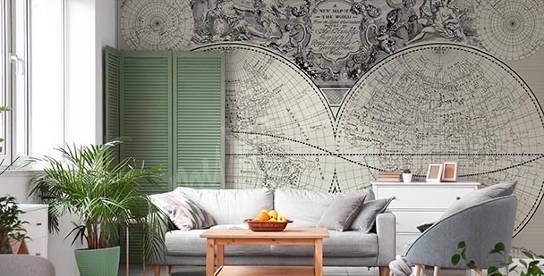 Fototapeta mapa retro: stary świat