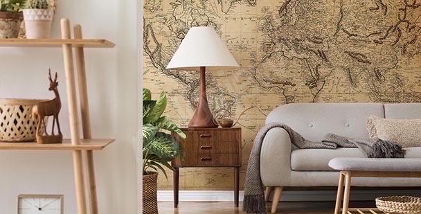 Fototapeta mapa retro: kraje świata