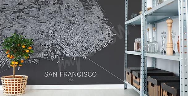 Fototapeta mapa San Francisco