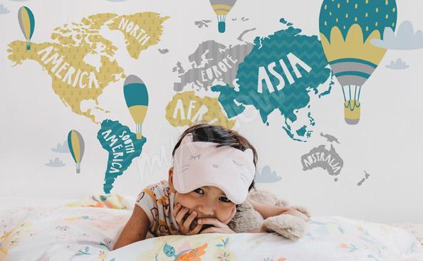 Fototapeta mapa świata dla dziecka