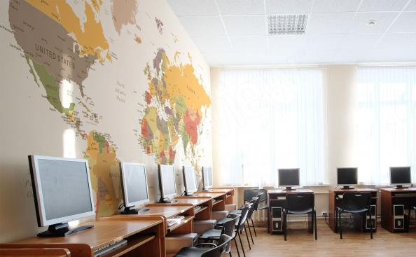Fototapeta mapa świata do szkoły językowej