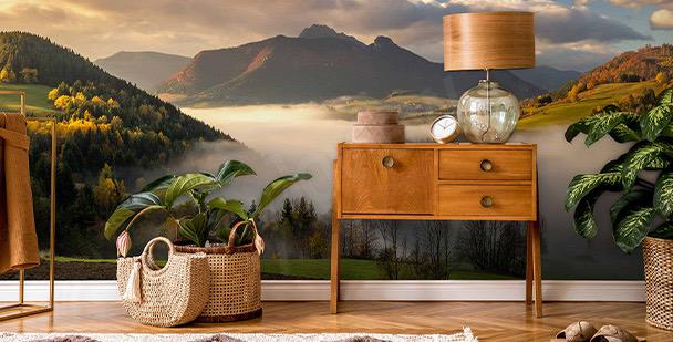 Fototapeta minimalistyczne wzgórza